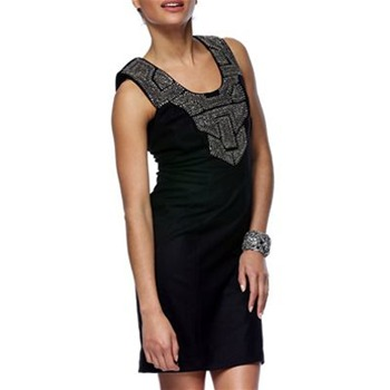 Amen Black Beaded Neckline Dress