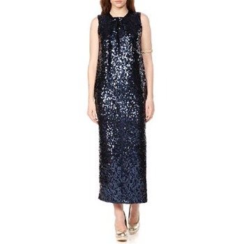 By Malene Birger Blue High Neck Sequin Dress