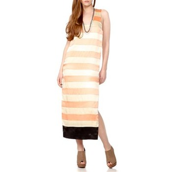By Malene Birger Orange Striped Racerback Dress