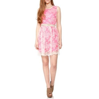 Erin Fetherston Pink Neon Lace Dress