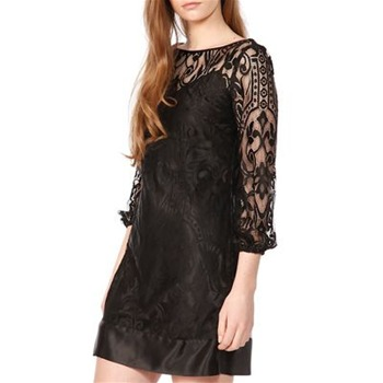 Laundry Black Lace V-Back Dress