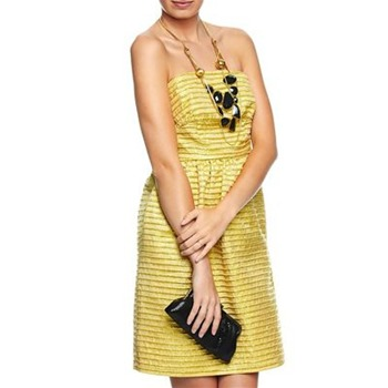 Manoush Gold Strapless Mini Dress