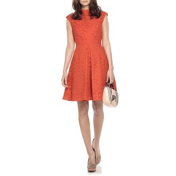 Milly Orange Avery Cotton Mix Dress