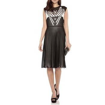 Nicole Miller Black Celaya Silk Dress