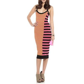Nicole Miller Pink/Multi Down Town Knitted Dress