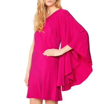 Nicole Miller Fuchsia One Shoulder Shift Dress
