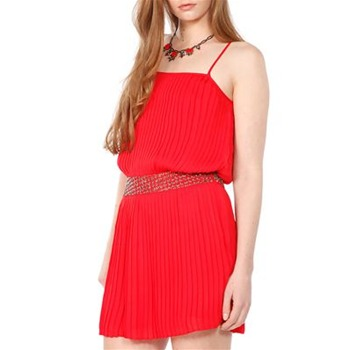 Parker Red Embellished Waist Dress