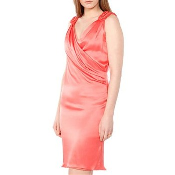 Temperley London Pink Draped Primavera Silk Dress