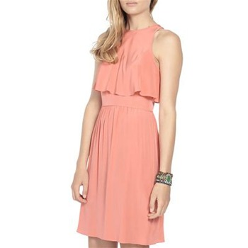 Tibi Orange LA Dreamer Silk Dress