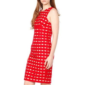 Tracy Reese Red Eyelet Shift Dress