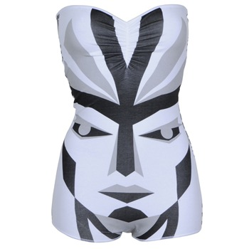 Electric Tees Grey Cyborg Head Bandeau Body