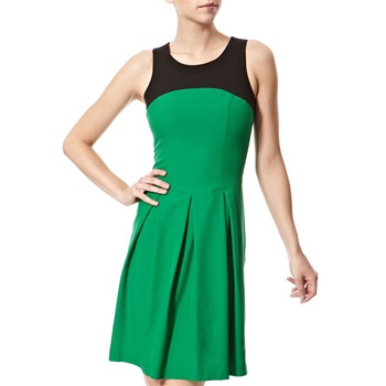 Vivi Boutique Green/Black Colour Block Dress