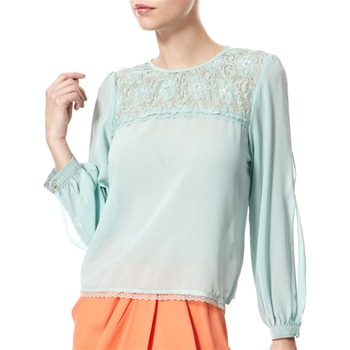 Vivi Boutique Light Green Lace Panel Blouse