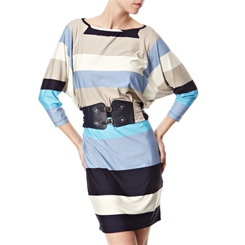 Vivi Boutique Blue Stripe Jersey Dress