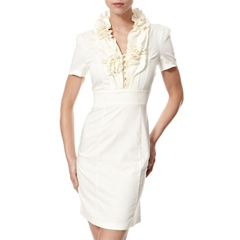 Vivi Boutique Cream Frill Collar Dress