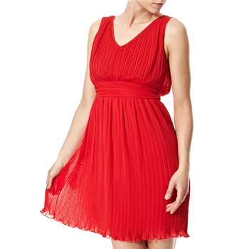 Vivi Boutique Red Pleated Dress