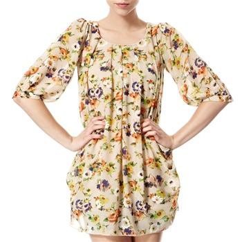 Vivi Boutique Beige/Multi Floral Print Dress