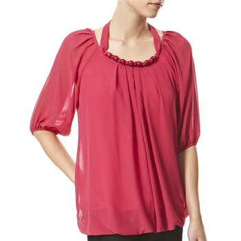 Vivi Boutique Fuchsia Bead Embellished Blouse