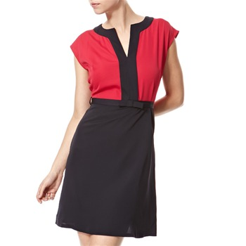 Vivi Boutique Fuchsia/Navy Colour Block Shift Dress