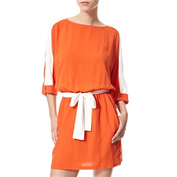 Vivi Boutique Orange/White Panelled Dress