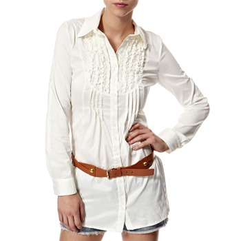 Vivi Boutique Cream Frill Trim Shirt