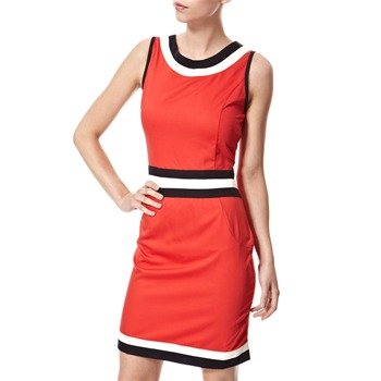 Vivi Boutique Red Panelled Shift Dress