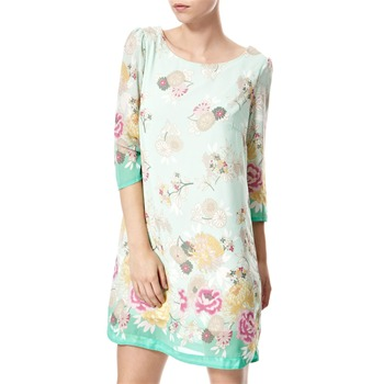 Vivi Boutique Green Floral Print Shift Dress