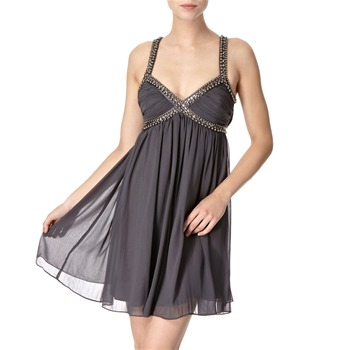 Lipsy Grey Iron Queen Embellished Dress