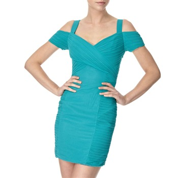 Lipsy Green Lila Chiffon Panel Dress