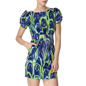 Lipsy Blue/Green Vibrant Print Dress