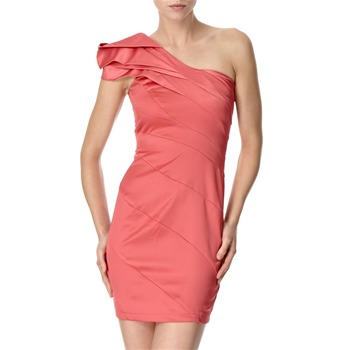 Lipsy Raspberry One Shoulder Structured Dress