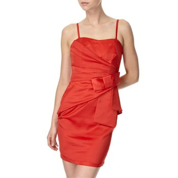 Lipsy Red Satin Side Bow Dress