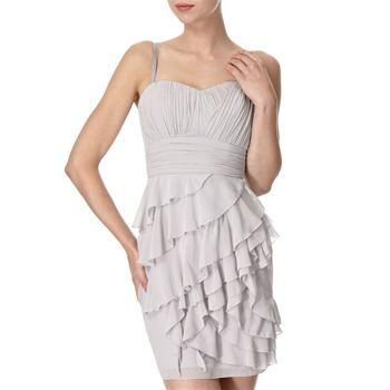 Lipsy Grey Neraida Ruffle Chiffon Dress
