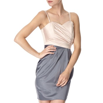 Lipsy Pink/Grey Victory Colour Block Dress