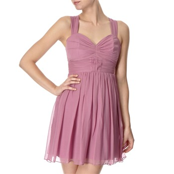 Lipsy Purple Baby Doll Silk Dress