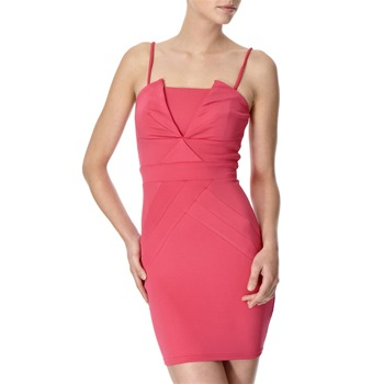Lipsy Pink Pleated Front Bodycon Dress