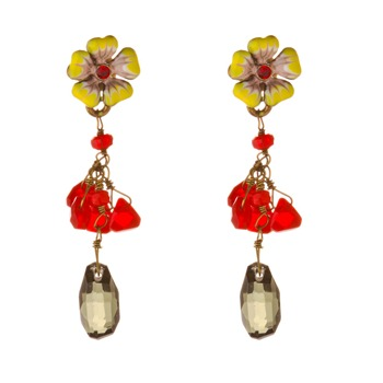 Les Nrides Yellow/Multi Clair De Jour Earrings