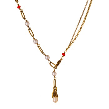 Les Nrides Yellow/White/Red Clair De Jour Necklace