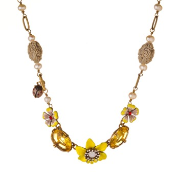 Les Nrides Yellow/Grey Clair De Jour Necklace