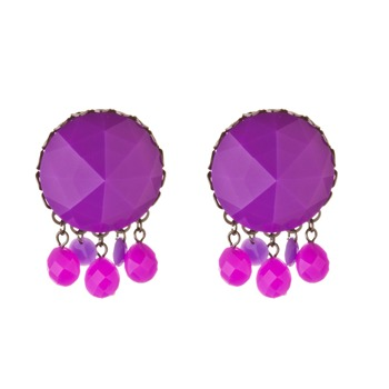 Les Néréides Purple Amethyst St. Petersburg Large Earrings