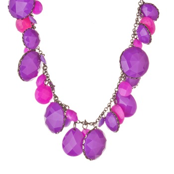 Les Néréides Purple Amethyst St. Petersburg Short Necklace