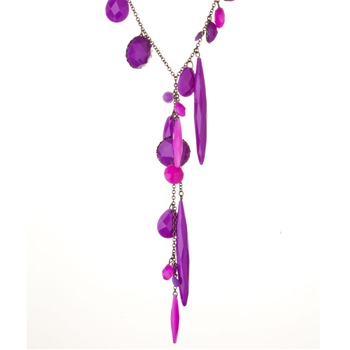 Les Néréides Purple Multi Amethyst St. Petersburg Necklace