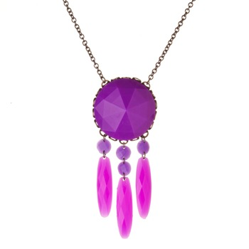 Les Néréides Purple Amethyst St. Petersburg Long Necklace