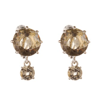 Les Néréides Light Grey Jewel Earrings