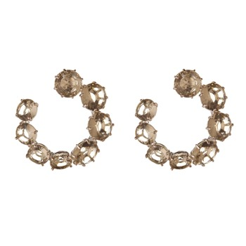 Les Néréides Light Grey La Diamantine Hoop Earrings