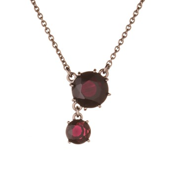 Les Néréides Dark Purple La Diamantine Necklace