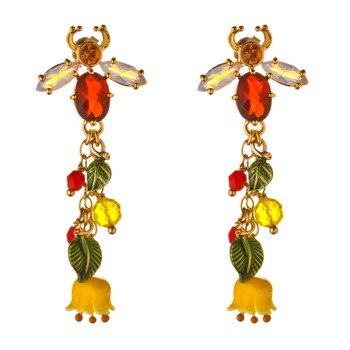 Les Néréides Yellow/Multi Reine Des Pres Drop Earrings