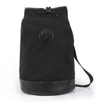 Pretty Green Black Canvas/Leather Duffle Bag