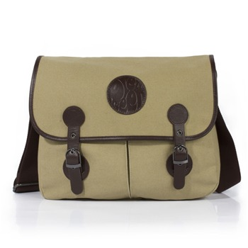 Pretty Green Stone Canvas/Leather Poachers Bag