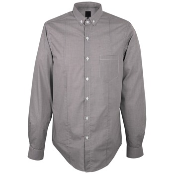 Pretty Green Black Gingham Cotton Shirt